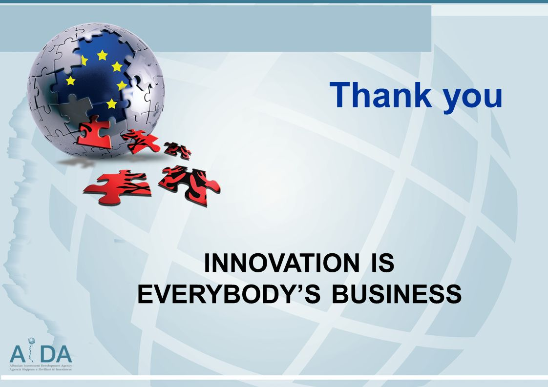 Thank you INNOVATION IS EVERYBODYS BUSINESS