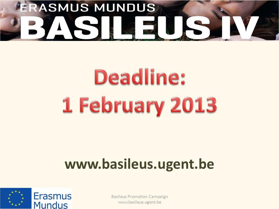 Basileus Promotion Campaign www.basileus.ugent.be www.basileus.ugent.be