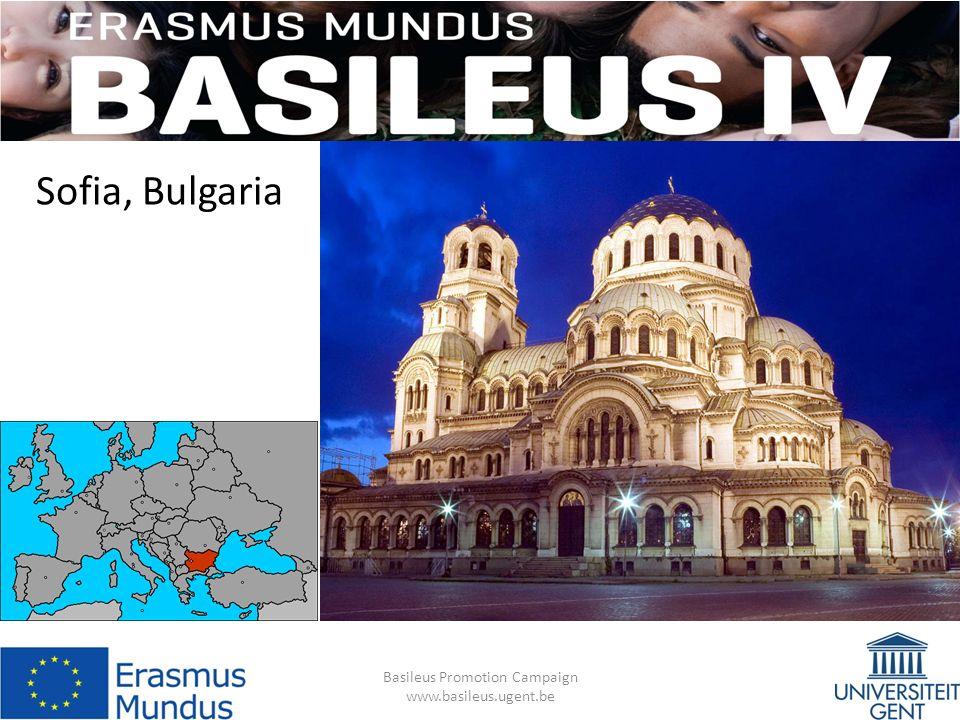 Sofia, Bulgaria Basileus Promotion Campaign www.basileus.ugent.be