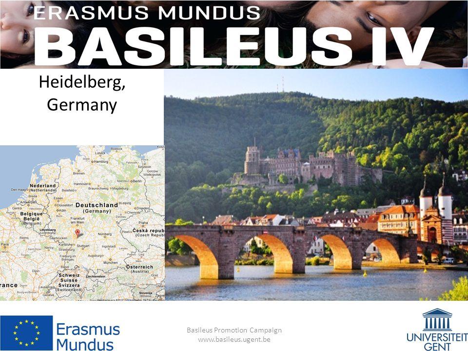 Heidelberg, Germany Basileus Promotion Campaign www.basileus.ugent.be