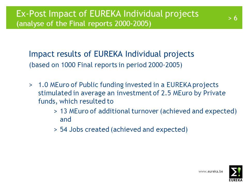 www.eureka.be > 7 www.eureka.be