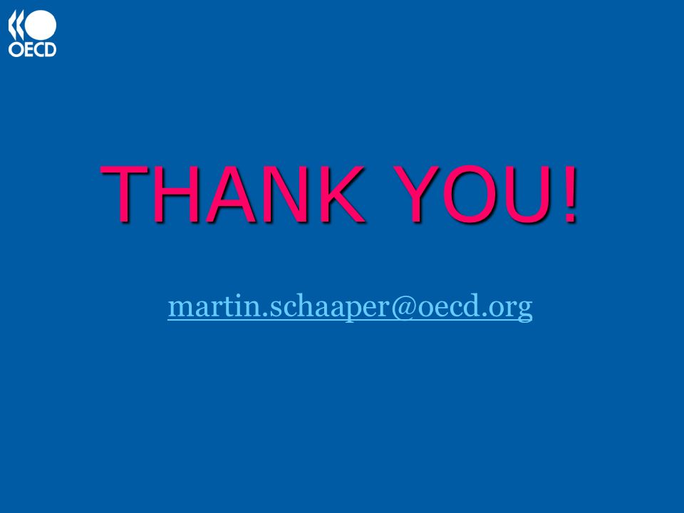 THANK YOU! martin.schaaper@oecd.org