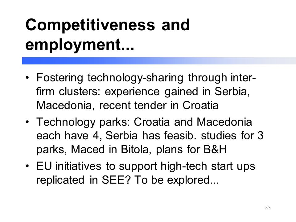 25 Competitiveness and employment...