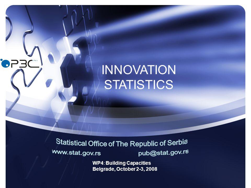 WP4: Building Capacities Belgrade, October 2-3, 2008 INNOVATION STATISTICS