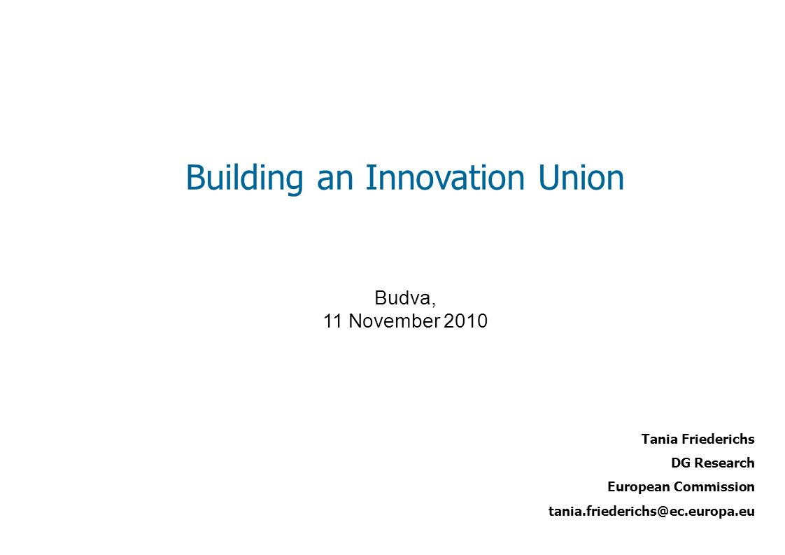 Focusing EU funding instruments Issues Need to support the whole innovation chain, from research to market Further simplify access for beneficiaries, including SMEs Develop scientific evidence to support policy-making Promote the European Institute of Innovation & Technology Actions 6.