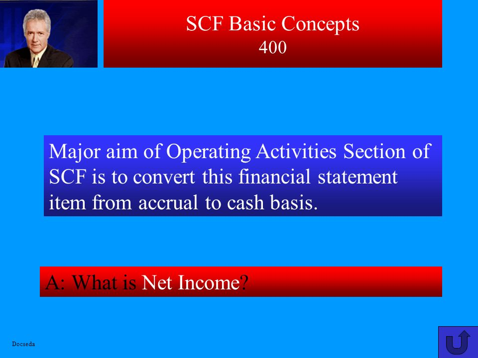 SCF Basic Concepts 300 A : What are Operating, Investing, and Financing Activities? These are three major types of activities that are analyzed in a S
