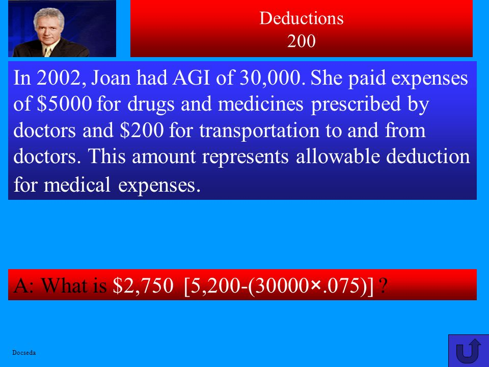 A: What is $2,000. In 2002, Linda and Jack had AGI of $50,000.