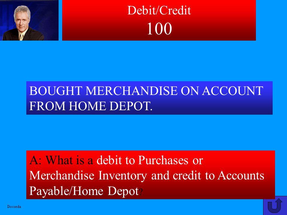 Debit/CreditAdjustments Income Statement Balance SheetStatement of Equity 100 200 300 400 500