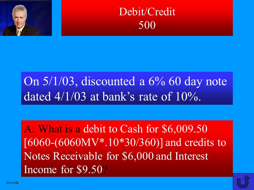 Debit/Credit 400 A: What is a debit Cash for $490, Sales Dsicounts for $10 and credit Accounts Receivable for $500? Collected a $500 account from cust