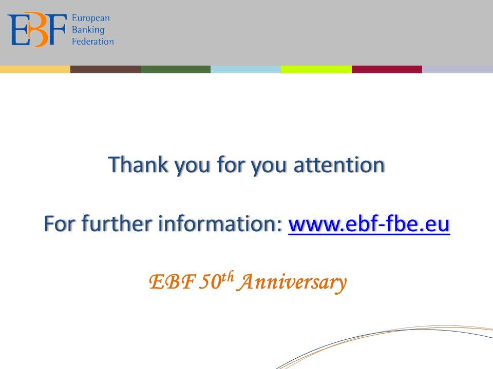 Thank you for you attention For further information: www.ebf-fbe.eu www.ebf-fbe.eu EBF 50 th Anniversary