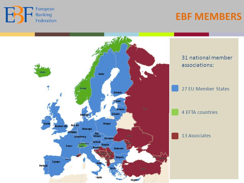 EBF MEMBERS 31 national member associations: 27 EU Member States 4 EFTA countries 13 Associates