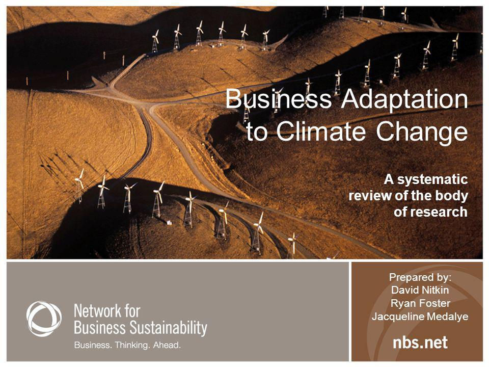 Risks & Opportunities: Findings on Vulnerability (1) Degree to which system is susceptible to and unable to cope with adverse effects of climate change Three factors affect vulnerability: –Nature of climate change to which exposed –Climate sensitivity of system –Capacity of system to adapt (IPPCC, p 21)
