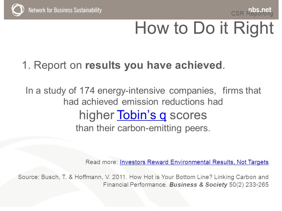 Read more: Investors Reward Environmental Results, Not TargetsInvestors Reward Environmental Results, Not Targets Source: Busch, T.