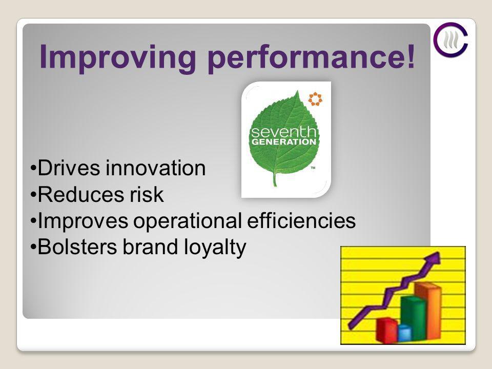 Improving performance.