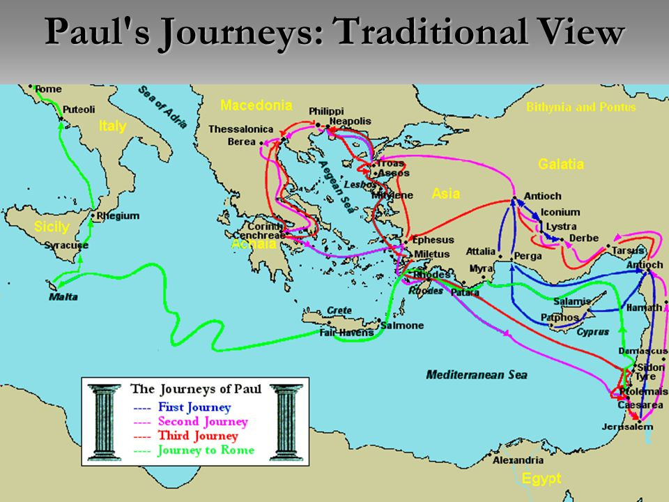 24 Paul's Journeys: Traditional View