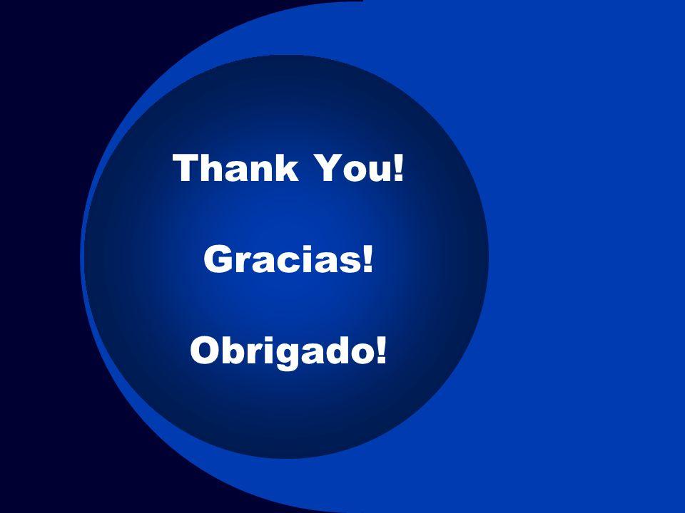 Thank You! Gracias! Obrigado!