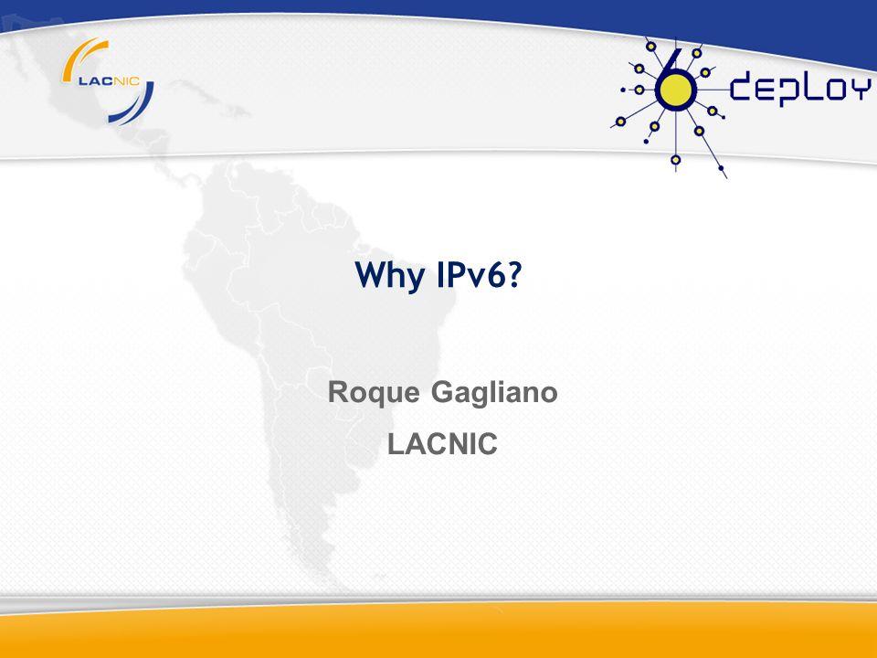 IPv6 Evolution: 1991:ROAD First Studies 1994: SIPP is chosen 1995: 1st IPv6 RFC1883 1998: IPv6 RFC2460 1996: 6Bone 2003: DHCPv6 2004: MIPv6 2006:6Bone ends ICMPv6, DNS, IPv6 over X, Multicast, routing, MIBs 20081991 Commercial only IPv6