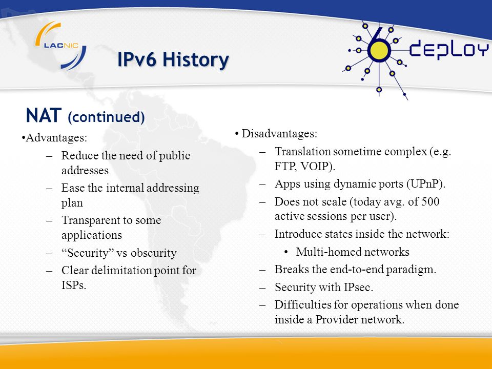 IPv6 History CIDR + NAT Today 17% Left