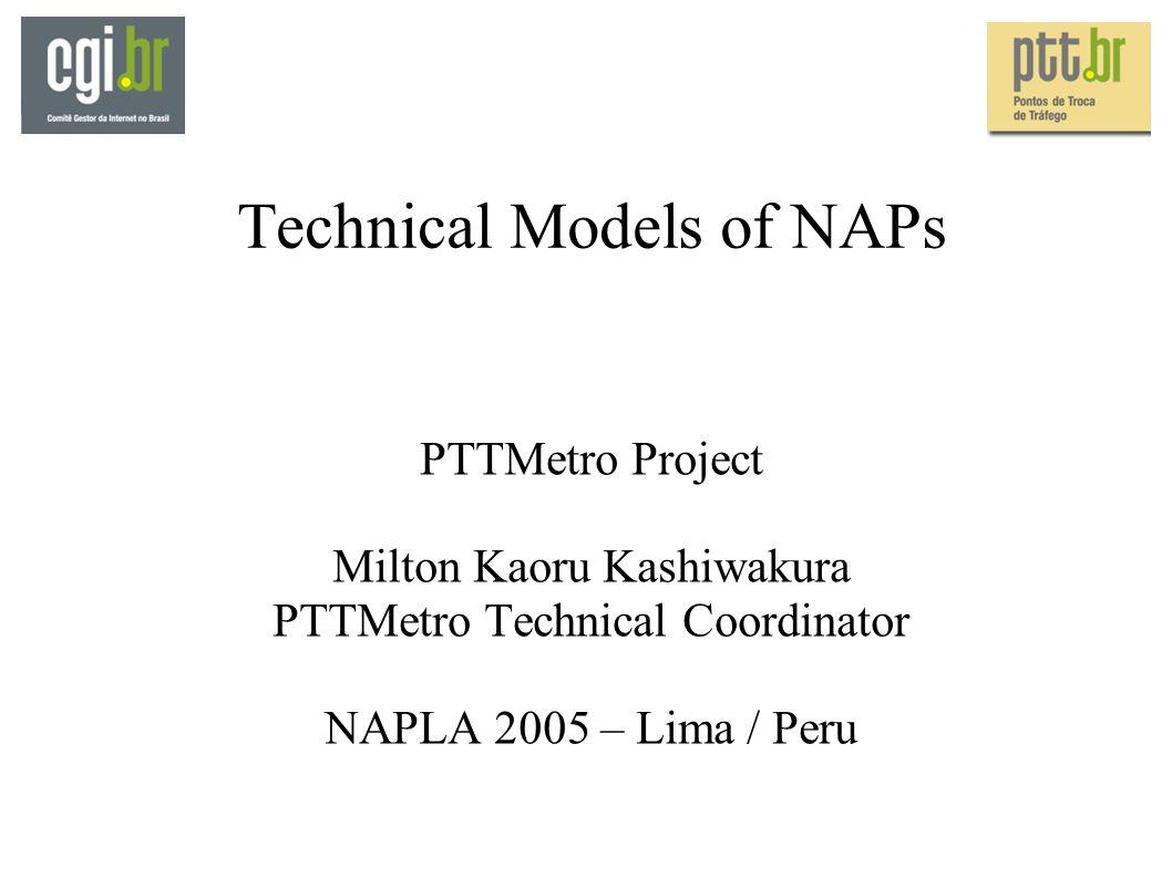 Technical Models of NAPs PTTMetro Project Milton Kaoru Kashiwakura PTTMetro Technical Coordinator NAPLA 2005 – Lima / Peru