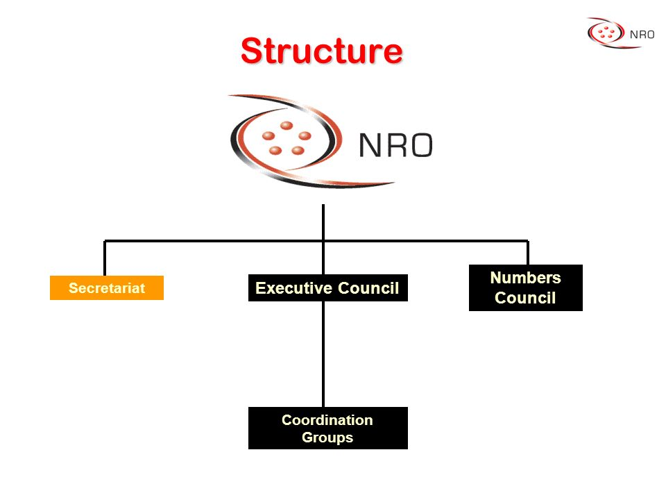 Structure Coordination Groups Executive Council Numbers Council Secretariat