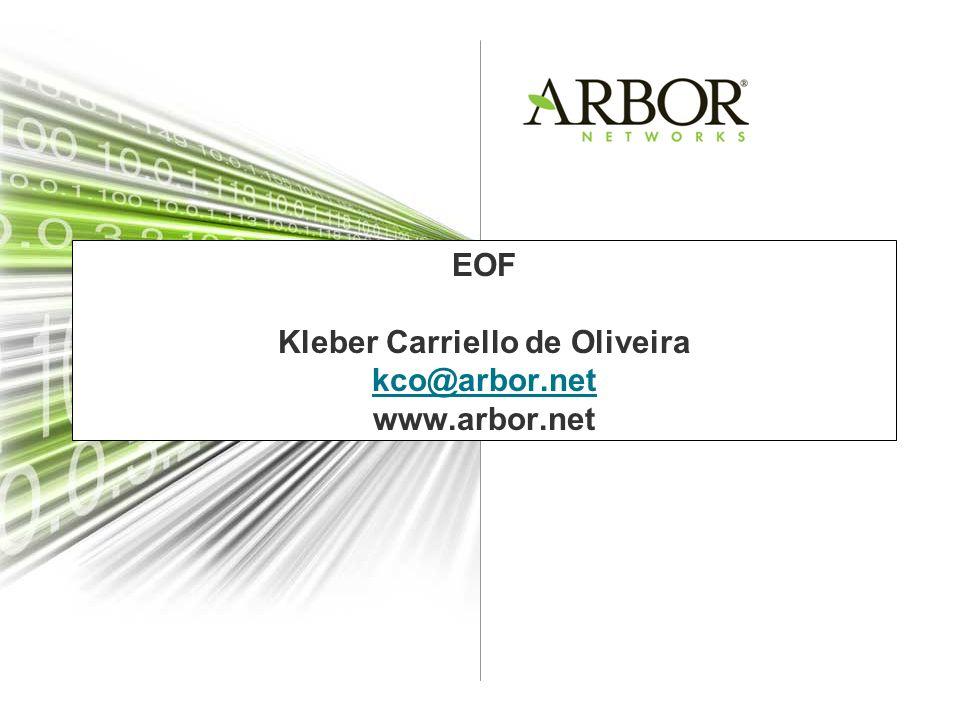 EOF Kleber Carriello de Oliveira kco@arbor.net www.arbor.net kco@arbor.net