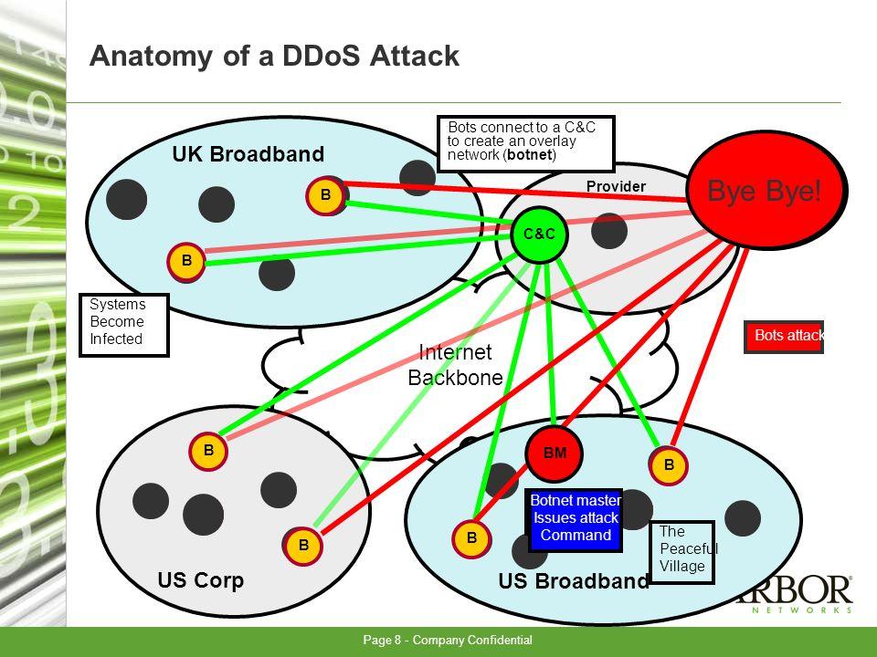 Page 8 - Company Confidential Internet Backbone B UK Broadband US Corp US Broadband B JP Corp. Provider B B The Peaceful Village B B B B B B Systems B