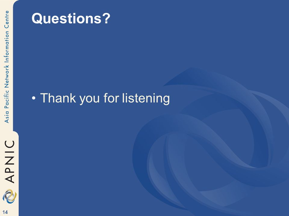 14 Questions Thank you for listening