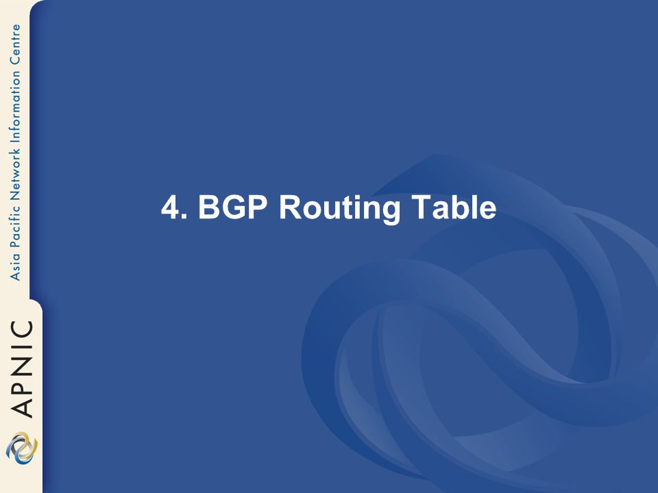 4. BGP Routing Table
