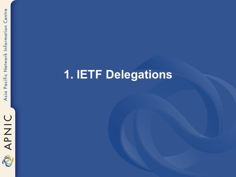 1. IETF Delegations