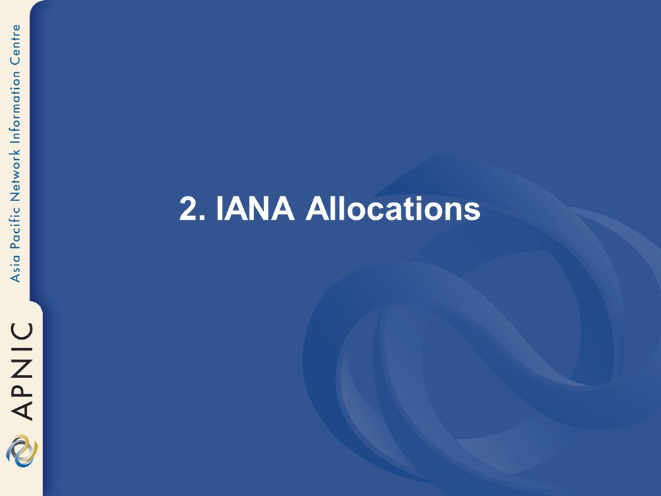2. IANA Allocations