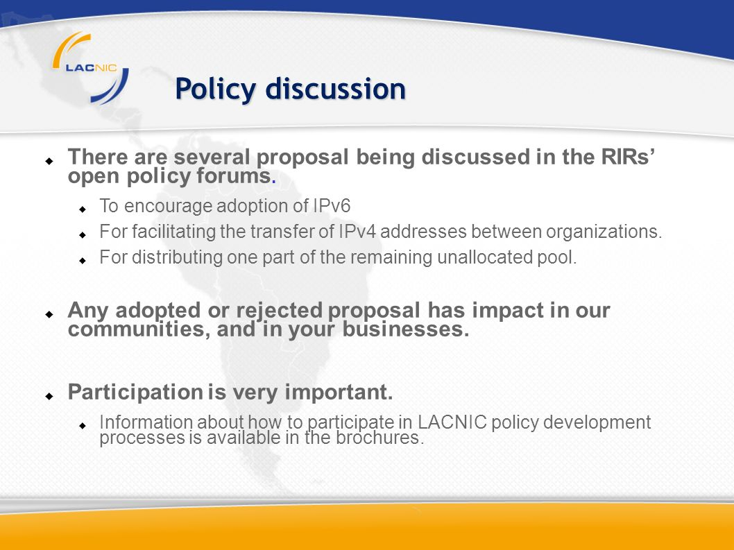 There are several proposal being discussed in the RIRs open policy forums.