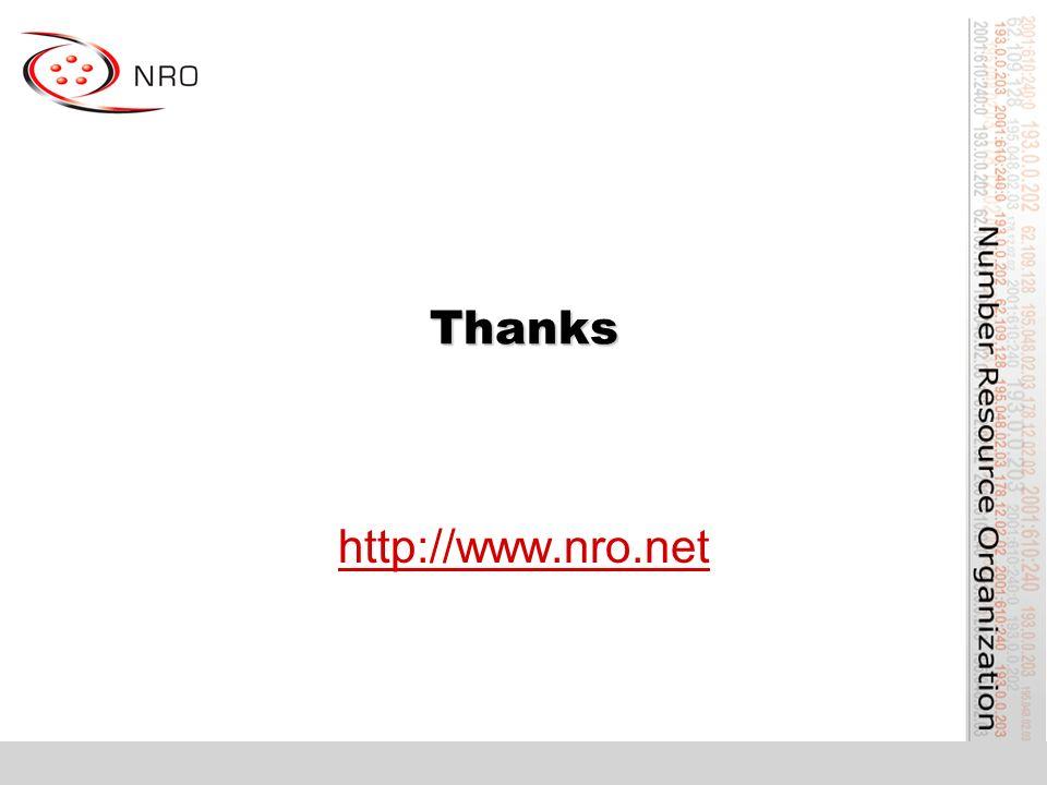 Thanks http://www.nro.net