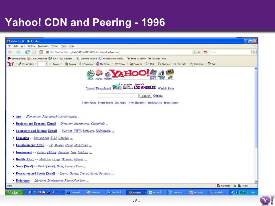 - 8 - Yahoo! CDN and Peering