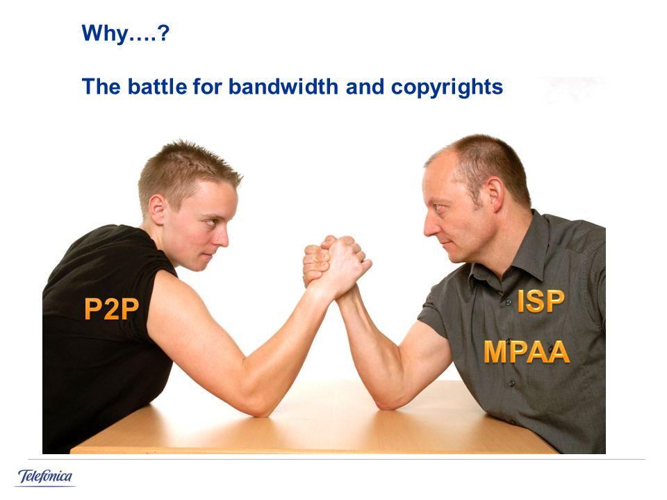 Why…. The battle for bandwidth and copyrights