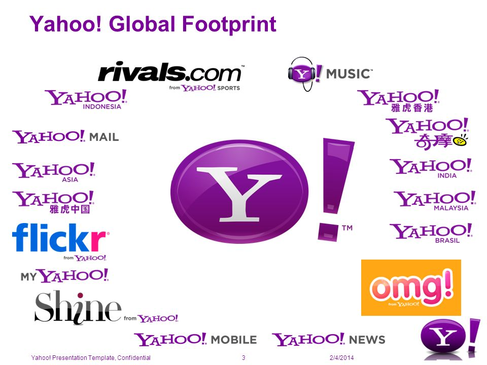 2/4/2014 Yahoo! Global Footprint Yahoo! Presentation Template, Confidential3