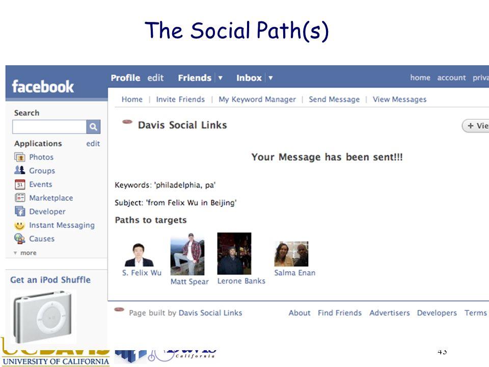 43 The Social Path(s)