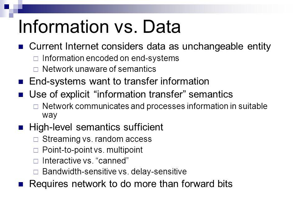 Information vs.