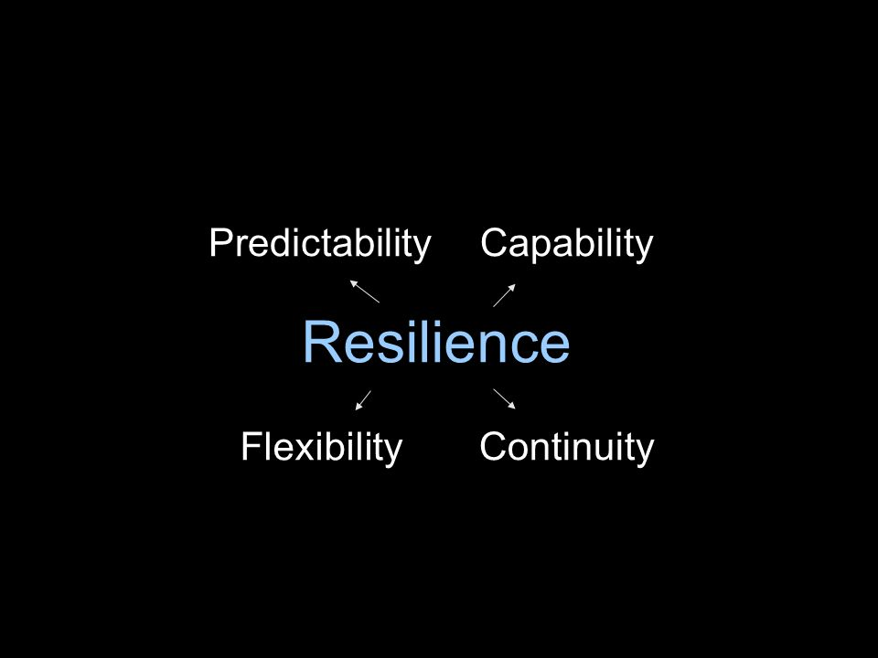Resilience PredictabilityCapability Continuity Flexibility
