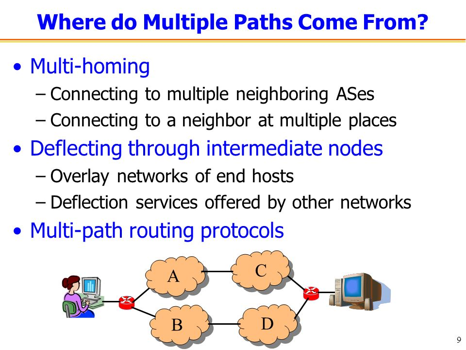 9 Where do Multiple Paths Come From.