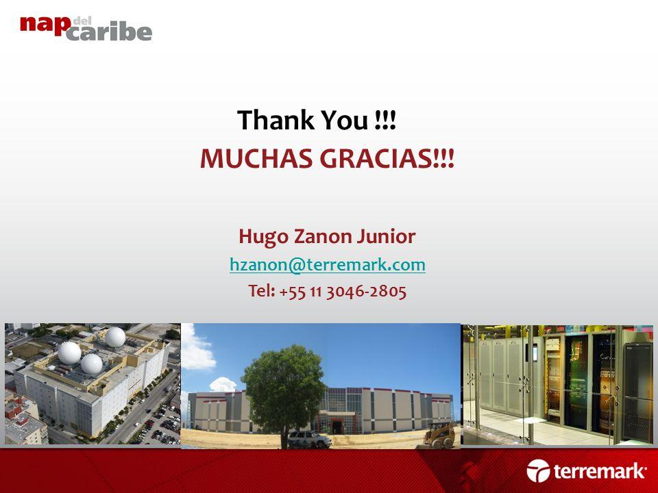 Thank You !!! MUCHAS GRACIAS!!! Hugo Zanon Junior hzanon@terremark.com Tel: +55 11 3046-2805