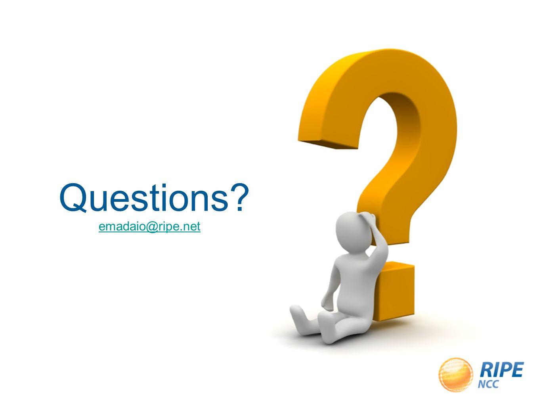 Questions emadaio@ripe.net