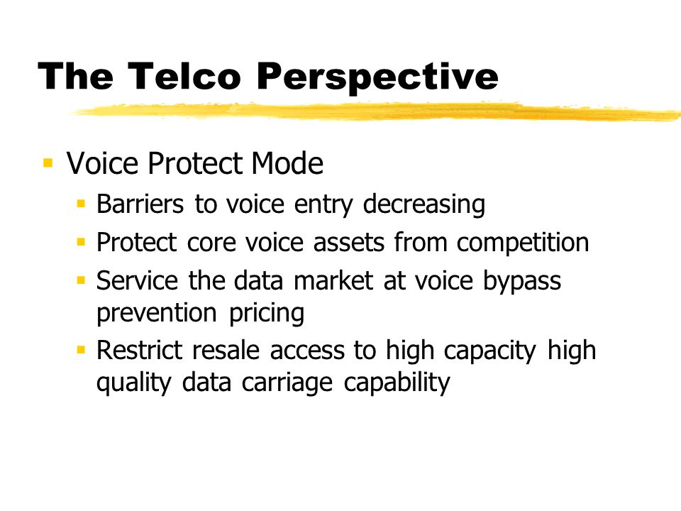 The Telco Perspective Voice is good business...