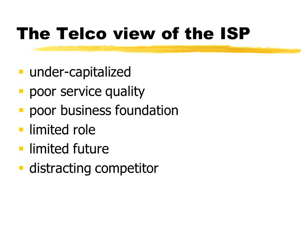 The Telco view confused