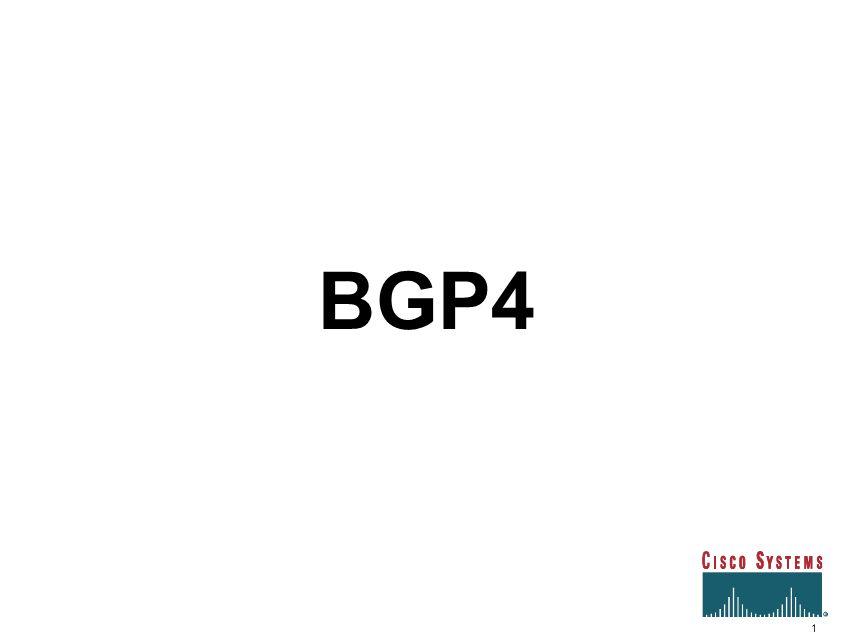 1 BGP4