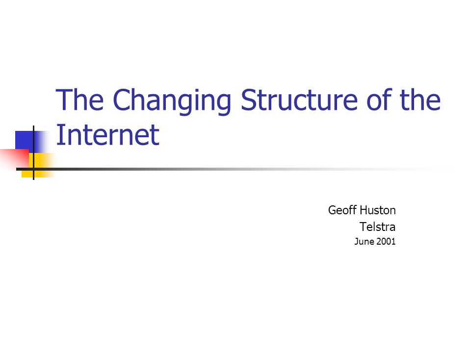 Internet Interconnection Outcomes The most stable outcome is a static bilateral agreement creating a provider / customer relationship, or SKA peer relationship between the two providers i.e.