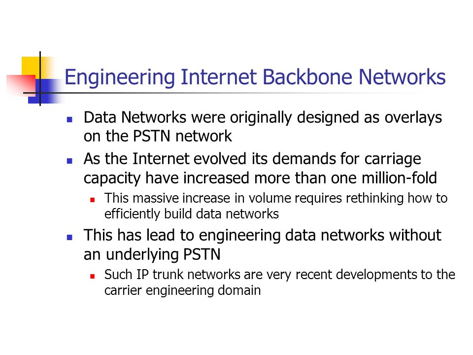 IP Carriage Architectures Issues in designing an efficient high speed IP backbone network