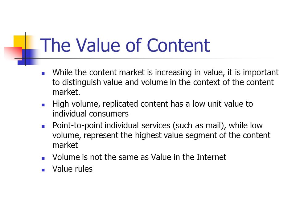 The Content Economy What does a robust content economy look like.