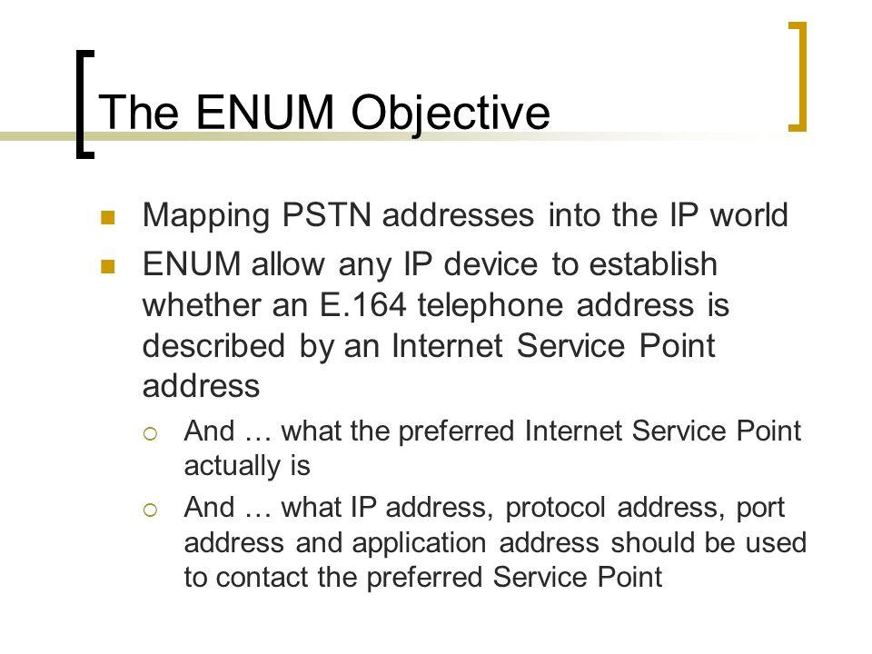 What is ENUM.