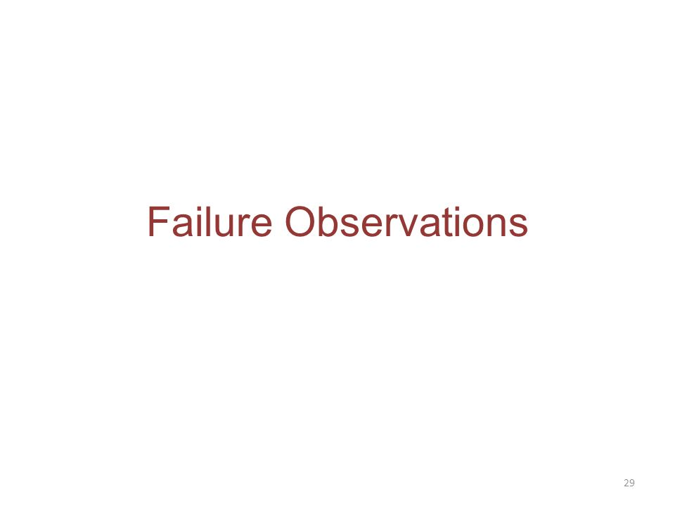 Failure Observations 29