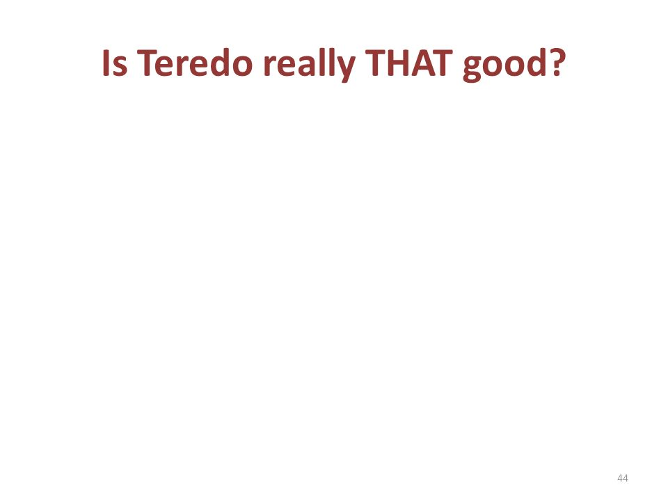 Is Teredo really THAT good 44